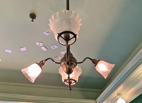 Ceiling light fixture in Magic Shop on Main Street USA Disneyland