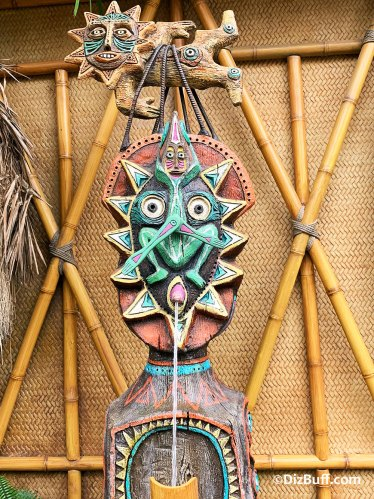 Disney's Enchanted Tiki Room god Maui who roped the playful sun in pre show