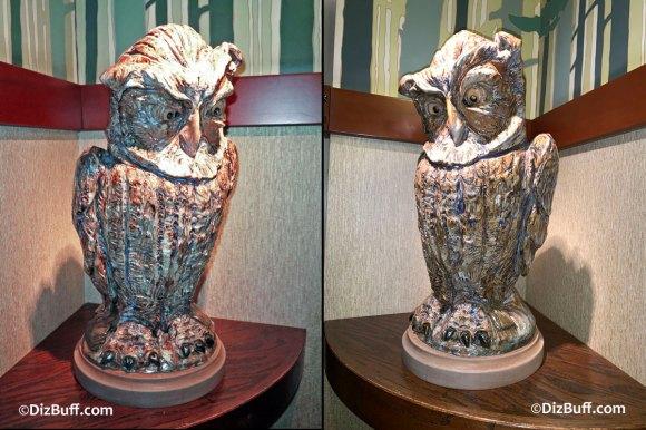Grotesque Bird Owl the Owl in Disneyland Grand Californian Hotel