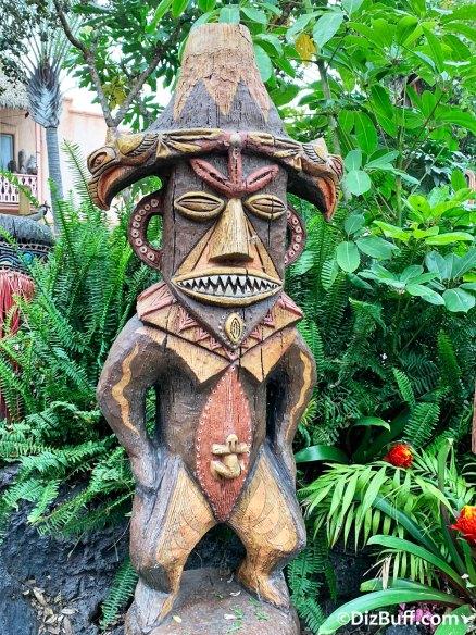 Disney's Enchanted Tiki Room goddess Pele in pre show