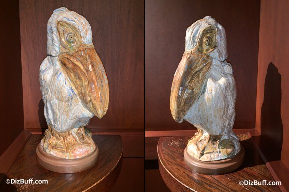 Grotesque Bird Scuttle the Pelican in Disneyland Grand Californian Hotel
