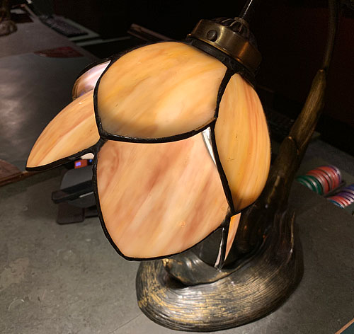 Registration desk flower lamp at Disney's Grand Californian Hotel