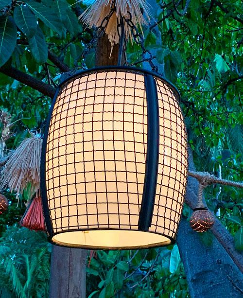 Hanging light fixture at The Tropical Hideaway Restaurant in Adventureland Disneyland