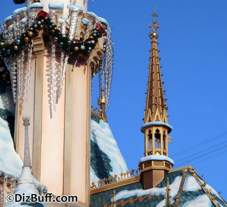 Viollet-le-duc-spire on Sleeping Beauty Castle in Disneyland