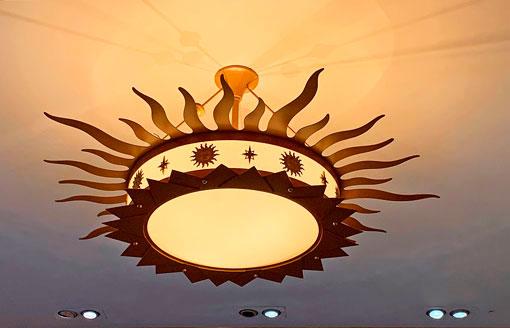 Sunburst light fixture at Elias and Company is Disney California Adventure Park Disneyland