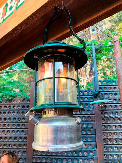 Camp Lantern light fixture at Grizzly Peak Refreshments in Disney California Adventure Park Disneyland Anaheim CA