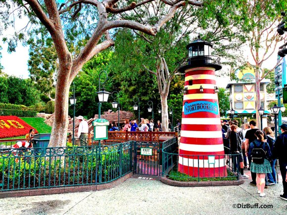 Original ticket booth for Storybook Land Canal Boats attraction in Fantasyland Disneyland