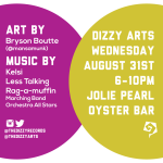 Music and Art at Jolie Pearl August 31st, 2016