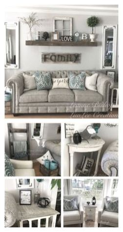 20 + Home Decor Ideas Living Room Rustic Farmhouse Style Ideas 2