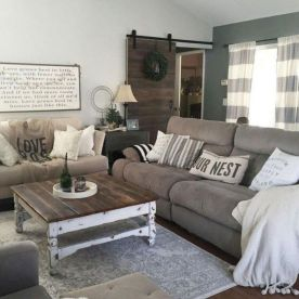 20 + Home Decor Ideas Living Room Rustic Farmhouse Style Ideas 45