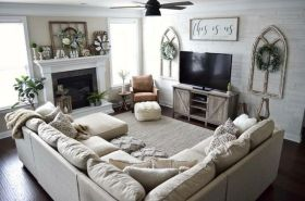 23 + Reason You Didn't Get Farmhouse Decor Living Room Rustic Wall 27