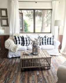 23 + Reason You Didn't Get Farmhouse Decor Living Room Rustic Wall 36