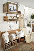 23 + Reason You Didn't Get Farmhouse Decor Living Room Rustic Wall 55