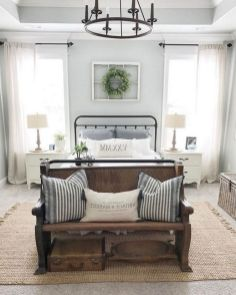 25 + That Will Motivate You Master Bedroom Ideas Rustic Farmhouse Style Bedding 37