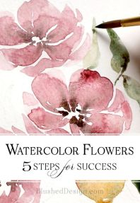 33 + Most Popular Ways To Watercolor Paintings Easy Step By Step Flower 56