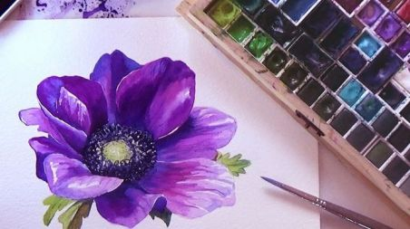33 + Most Popular Ways To Watercolor Paintings Easy Step By Step Flower 71