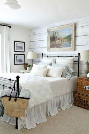 50+ Unbelievable Master Bedroom Ideas Rustic Farmhouse Style Decor 18
