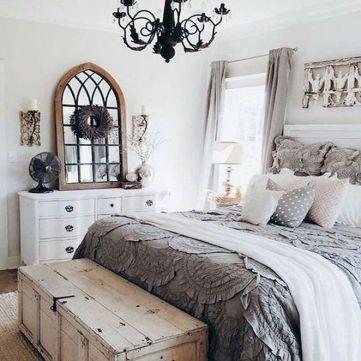 50+ Unbelievable Master Bedroom Ideas Rustic Farmhouse Style Decor 21