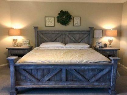 50+ Unbelievable Master Bedroom Ideas Rustic Farmhouse Style Decor 31