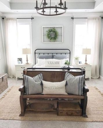 50+ Unbelievable Master Bedroom Ideas Rustic Farmhouse Style Decor 79