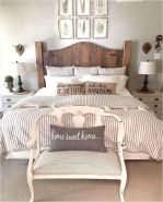50+ Unbelievable Master Bedroom Ideas Rustic Farmhouse Style Decor 81