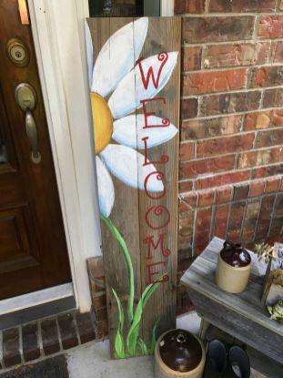 The War Against Welcome Sign Front Door 109
