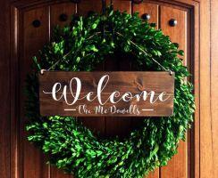 The War Against Welcome Sign Front Door 202