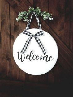 The War Against Welcome Sign Front Door 239