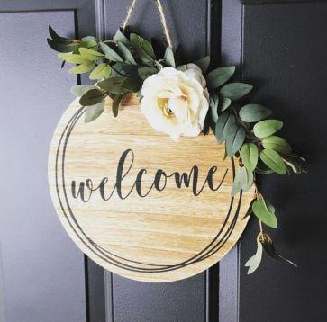 The War Against Welcome Sign Front Door 8