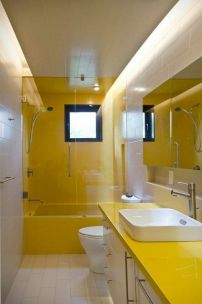 35+ The Appeal Of Yellow Bathroom Decor 115