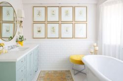 35+ The Appeal Of Yellow Bathroom Decor 153
