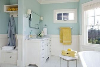 35+ The Appeal Of Yellow Bathroom Decor 207