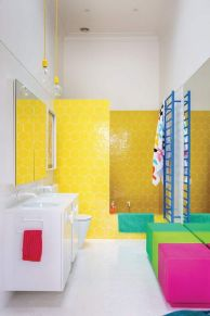 35+ The Appeal Of Yellow Bathroom Decor 328