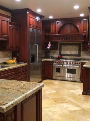 40+ Cherry Wood Kitchen Cabinets Options 265