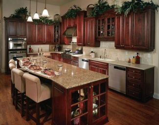 40+ Cherry Wood Kitchen Cabinets Options 336