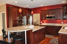 40+ Cherry Wood Kitchen Cabinets Options 50