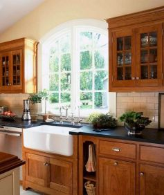 40+ Cherry Wood Kitchen Cabinets Options 60