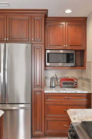 40+ Cherry Wood Kitchen Cabinets Options 87