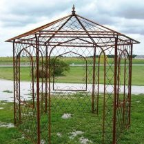 35+ Top Guide Of Metal Garden Arbor Trellis With Gate Scroll Design Arch Climbing Plants 185