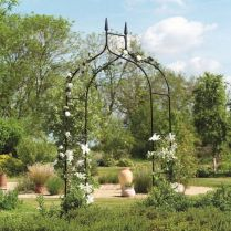 35+ Top Guide Of Metal Garden Arbor Trellis With Gate Scroll Design Arch Climbing Plants 214