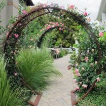 35+ Top Guide Of Metal Garden Arbor Trellis With Gate Scroll Design Arch Climbing Plants 215
