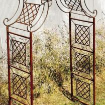 35+ Top Guide Of Metal Garden Arbor Trellis With Gate Scroll Design Arch Climbing Plants 263