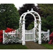 35+ Top Guide Of Metal Garden Arbor Trellis With Gate Scroll Design Arch Climbing Plants 73
