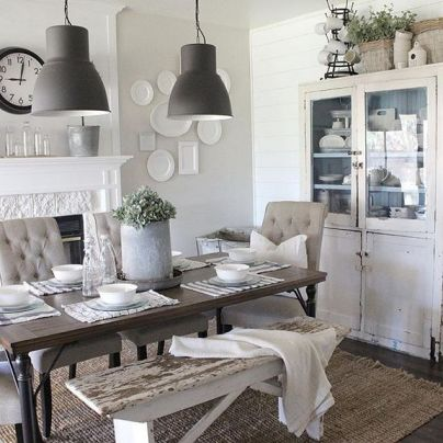 37+ Instant Solutions For Farmhouse Dinning Room 127