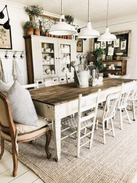 37+ Instant Solutions For Farmhouse Dinning Room 26