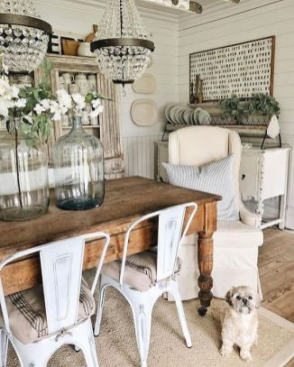 37+ Instant Solutions For Farmhouse Dinning Room 77