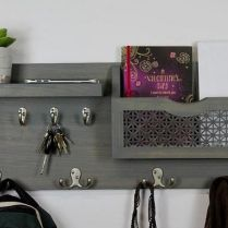 37+ The Nuiances Of Entryway Organizer Mail Key Holder Coat Rack Key Hooks Wall Coat Hook Shelf 270
