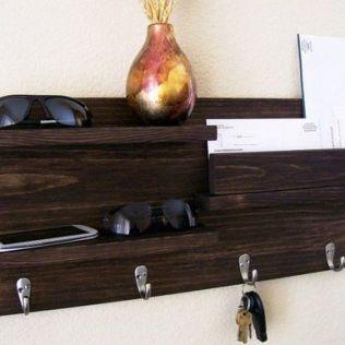 37+ The Nuiances Of Entryway Organizer Mail Key Holder Coat Rack Key Hooks Wall Coat Hook Shelf 85
