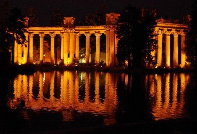 Ambiente Beleuchtung von Gebäuden und Ruinen