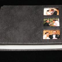 07.GAlbum Digital Nunta 30x30 cm. Piele ecologica alba + gri floral + fotografie